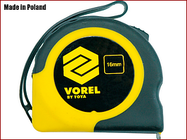 Рулетка вимірювальна 3 м x 16 мм Vorel 10104