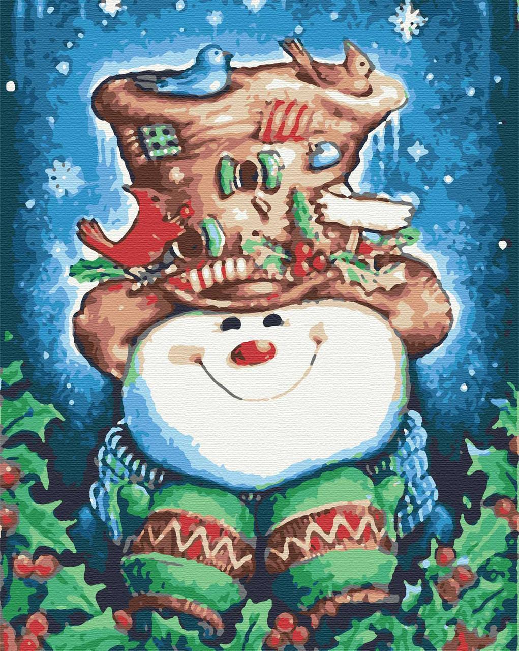 Картины по номерам зимние 40х50 Колядки