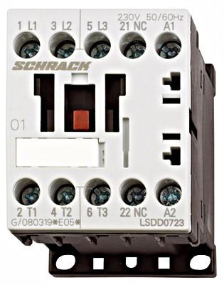 Контактор LSDD 3P 7А 3кВт 230В AC 1НЗ разм.00 Schrack