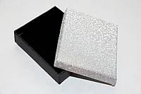 Коробка подарочная черная с серебром 6.5x7.5x2 см