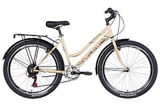 """Велосипед міський жіночий 26"""" Discovery Prestige Woman 2021 рама 17"""" бежевий"""