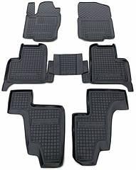 Полиуретановые (автогум) коврики в салон Mercedes / Мерседес GL (X166) 12-/GLS 14- (7 мест)