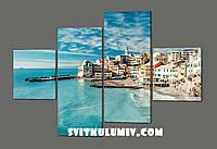 Модульная картина Морской пейзаж Чинкве-Терре. Италия 160*114 см Код: 514.4к.160