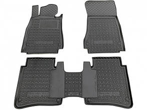 Полиуретановые (автогум) коврики в салон Mercedes S (W222) 2013- long/Мерседес