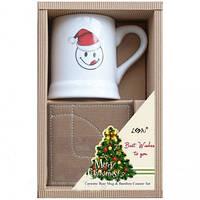 Подарочный набор Чашка с Санта Клаусом и подставка Angel Gifts