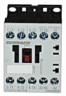 Контактор LSDD 3P 9А 4кВт 24В DC 1НЗ разм.00 Schrack