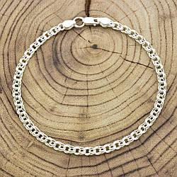 Серебряный браслет Бисмарк ширина 4 мм  длина 19