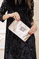 Клатч-сумка 154R003-6192 цвет Бежевый