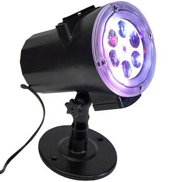 Проектор светодиодный на дом Сhange card garden projector и 12 слайдов, уличный LED прожектор новогодний