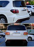 Nissan Patrol Y62 2010↗ рр. Задні ліхтарі LED Black-Sequential (2 шт)