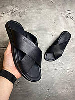 Мужские кожаные шлепанцы Baldinini балдинини (сланцы,шлепки,сандали,шлепанцы) босоножки philipp plein armani