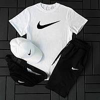 Мужской костюм шорты и футболка Nike / Летний комплект Найк Турция хлопок