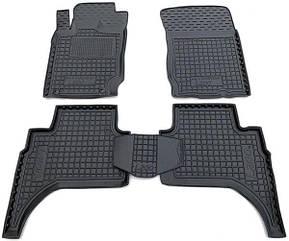 Полиуретановые (автогум) коврики в салон Mitsubishi L200 2016- Invite/Митсубиси