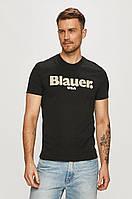 Чоловіча футболка Blauer, чорна блауер, фото 1