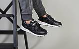 Кросівки на хлопчика, шкіряні чорні на липучках, фото 4