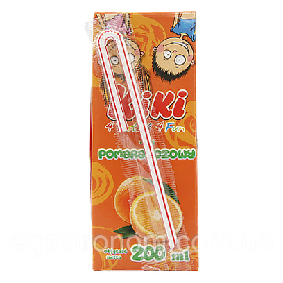 Сік Кікі апельсин Kiki 200g 27шт/ящ (Код : 00-00005973)