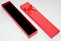 Коробка подарочная красная с рисунком 20x4x2 см