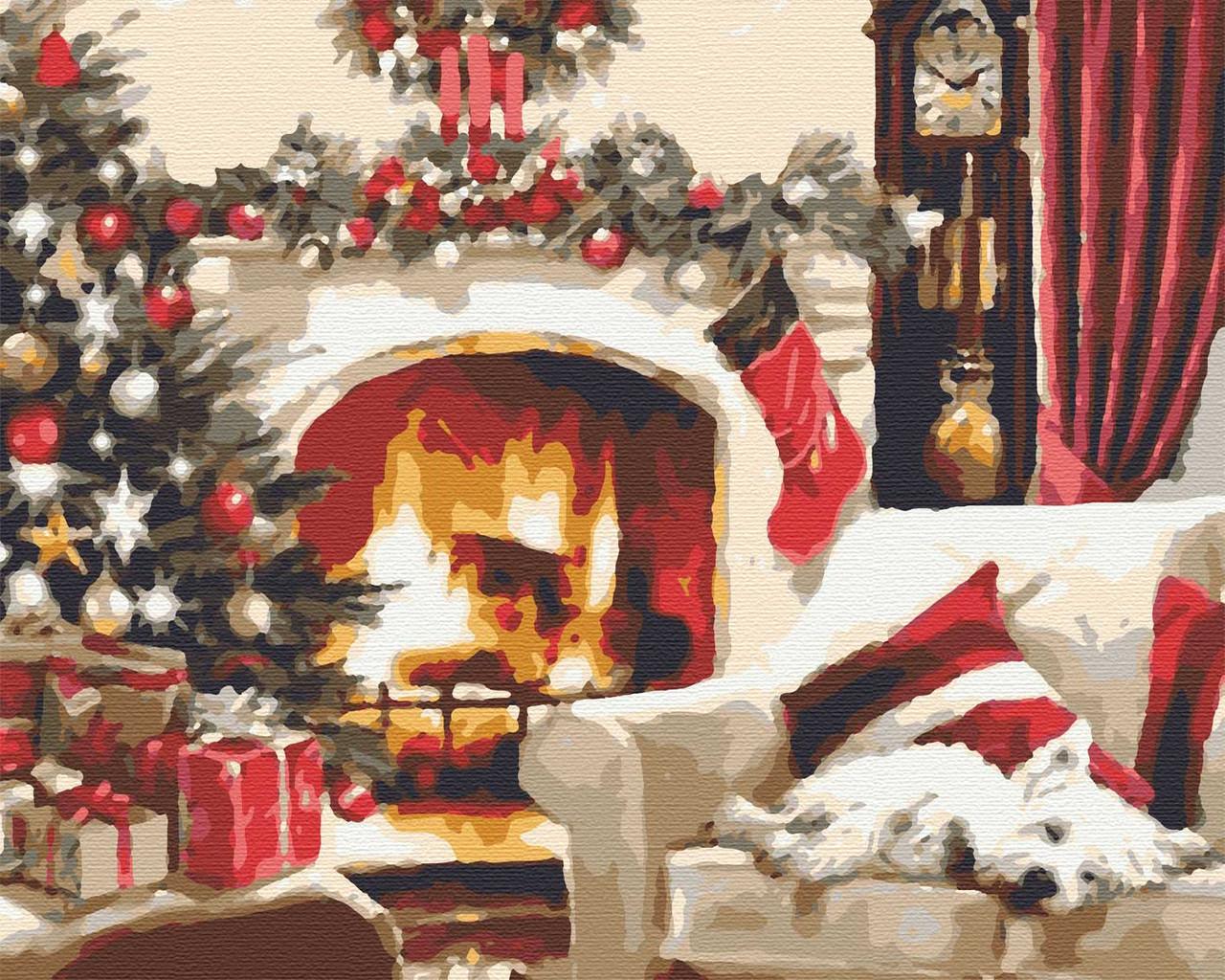 Картина за номерами зимова 40х50 Норічна ніч