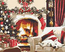 Картина по номерам зимние 40х50 Новогодняя Ночь
