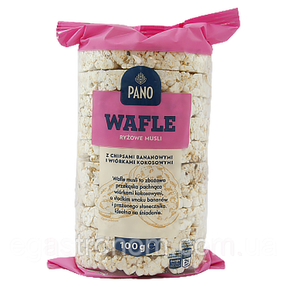 Хлібці рисові мюслі Пано Pano ryzowe musli 100g (Код : 00-00005976)