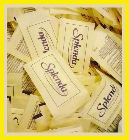 Заменитель сахара Спленда (сукралоза) поштучно 50 стиков по 1 г, фото 2