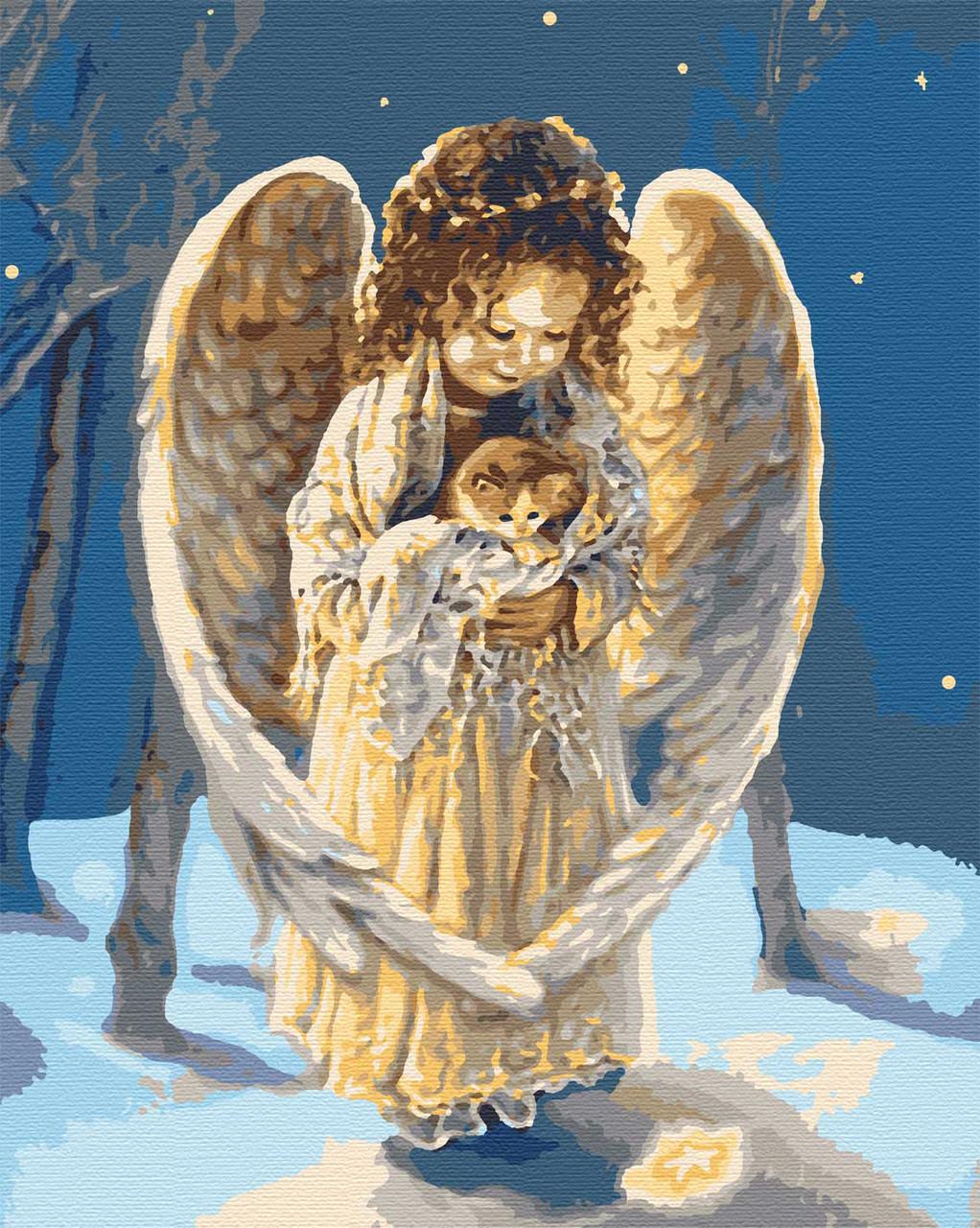 Картина за номерами зимові 40х50 Радість