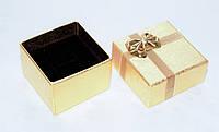 Коробка подарочная малая для кольца для ювелирных изделий золотая 4.5x4.5x3 см, фото 1