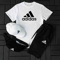 Мужской Костюм шорты и футболка adidas / Летний комплект Адидас Турция хлопок