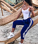 Жіночий костюм спортивний двоколірний на літо, фото 4