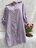 """Туніка-сорочка жіноча з капюшоном, батал, розмір L-3XL (5кол) """"PULSE"""" недорого від прямого постачальника"""