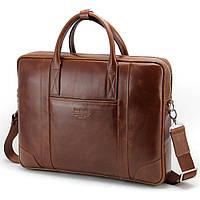 Сумка для ноутбука шкіряна 15.6', MackBook 16' Tom Stone 7071 коричнева, фото 1