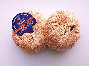 Пряжа Лен 160 Ярна Италия цвет 10/160 абрикос