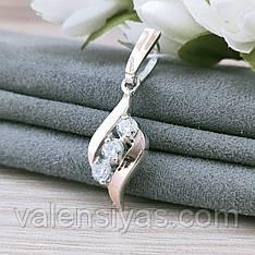 Серебряный кулон с  камнями