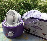 Воскоплав Pro-wax 500 пурпурний з датчиком регулювання температури 450г провакс 100вт Konsung beauty фіалка, фото 1
