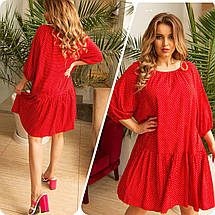 Літня сукня вільного крою великого розміру тонкий натуральна тканина штапель, різні кольори р. 48/54 Код 900С, фото 2