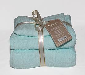 ТМ TAG Набор полотенец Sofia цвет: голубой
