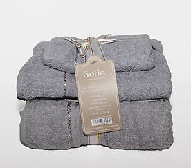 ТМ TAG Набор полотенец Sofia цвет: серый
