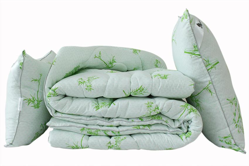 ТМ TAG Одеяло лебяжий пух Bamboo white евро + 2 подушки 70х70
