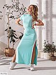 Сукня жіноча літній з розрізами з боків, фото 6