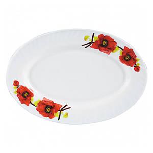 Блюдо S&T Красный мак овальное 25 см. 30066