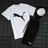 Спортивные костюмы шорты футболки мужские / Мужской летний комплект шорты футболка Турция хлопок