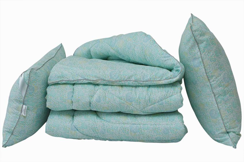 ТМ TAG Одеяло лебяжий пух Listok 2-сп. + 2 подушки 70х70