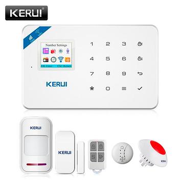 Охранная сигнализация KERUI W18, Wi-Fi, GSM. Датчик открытия, датчик движения, датчик дыма, беспроводная