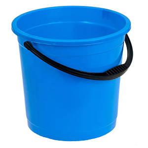 Відро R-plastic 10 л. кольорове без кришки синє 1398