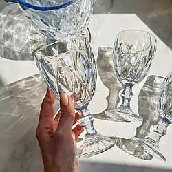 Набор бокалов 320 мл 6 шт + кувшин 1,25 л из цветного голубого стекла Shine (9054)