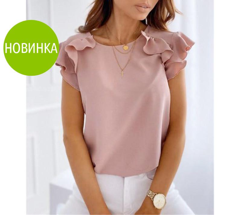 """Летняя женская блуза с воланами """"Teresa"""""""