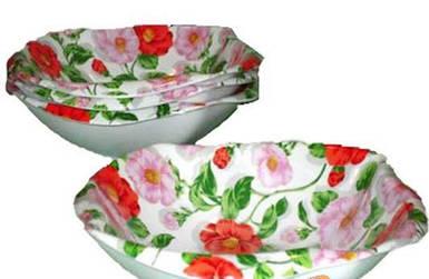 Салатник Ideal&K Розовый шиповник 17 см 7WA-3101R