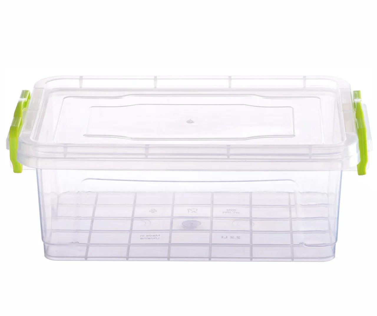 Контейнер пищевой Ал-Пластик Elit 2.2 л. плоский 256 х 170 х 95 мм
