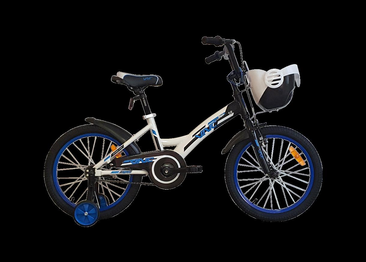 """Велосипед VNC Wave AC 2021 White/Blue Wave 18"""" XXXS (230мм/9"""")"""