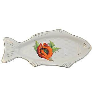 Селедочница Декор Керамика Рыба 275 мм. 0811